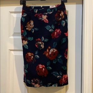 Floral Pencil Skirt, stretch.